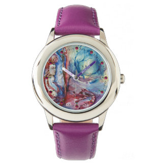 Relógio Mágica de MORGANA e fantasia azul cor-de-rosa do