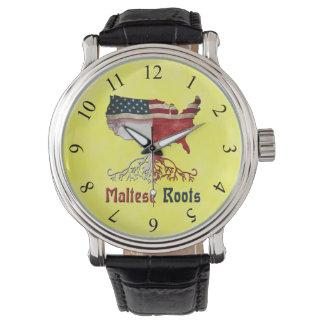 Relógio maltês americano das raizes