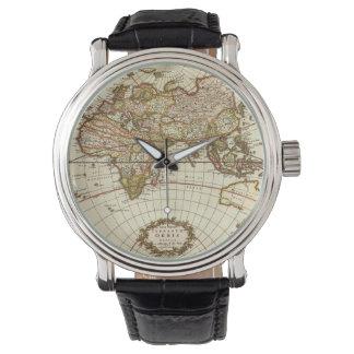 Relógio Mapa do mundo antigo, C. 1680. Por Frederick de