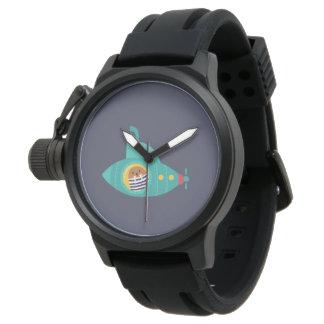 Relógio Mar azul profundo