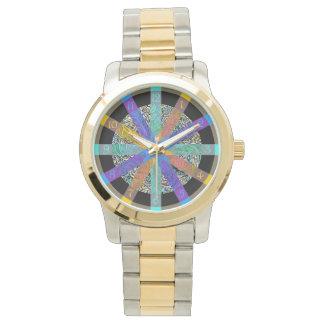 Relógio maravilhoso com design geométrico moderno