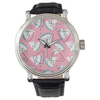 Relógio Melancias coloridas da aguarela