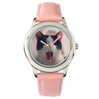 Relógio Meme do gato - gato engraçado - memes engraçados