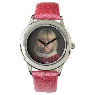 Relógio Menina do Natal - criança do Natal - menina bonito