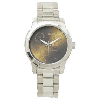 Relógio Mensagem do ouro do explorador