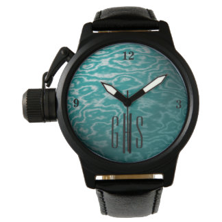 Relógio metálico das águas da cerceta com
