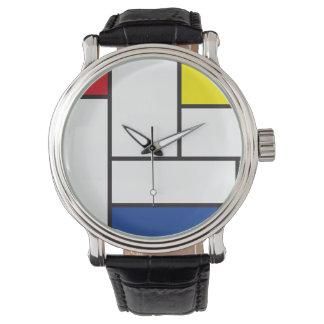 Relógio minimalista da arte moderna de Piet