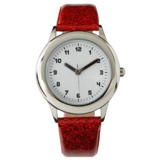 Relógio minimalista do brilho