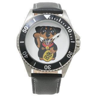 Relógio mínimo do cão do Pin do preto do Pinscher