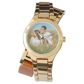 Relógio Modelo da foto de família da imagem do orçamento