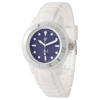 relógio moderno personalizado azul dos esportes