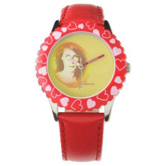 Relógio Moldura do trunfo de Melania com corações
