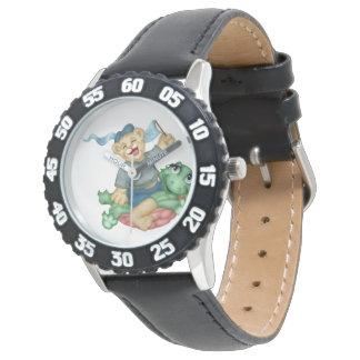 Relógio Moldura dos DESENHOS ANIMADOS do URSO da TARTARUGA