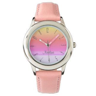 Relógio Monograma colorido