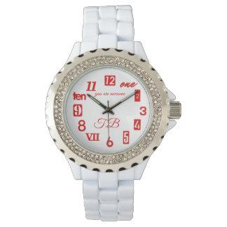 Relógio (Monograma/personalizado) numerais misturados