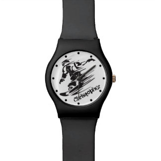 Relógio Montanha legal personalizada da snowboarding