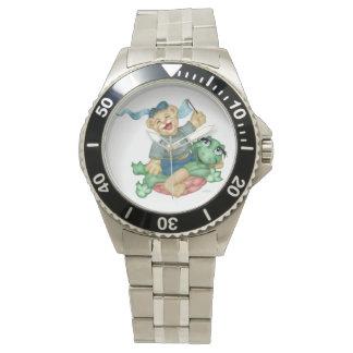 Relógio Mostras dos DESENHOS ANIMADOS do URSO da TARTARUGA