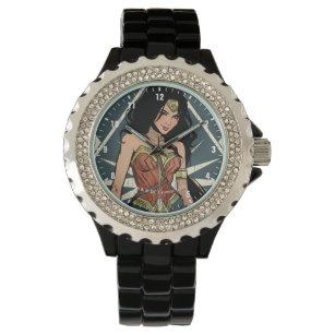 d595d630a53 Relógio Mulher maravilha com arte cómica da espada