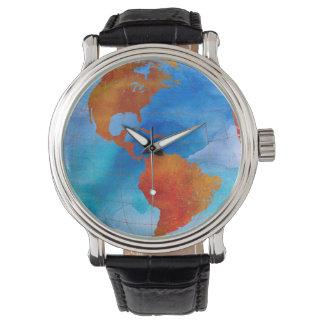 Relógio Mundo da aguarela