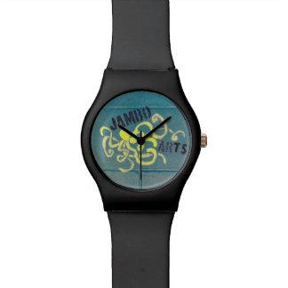 Relógio mural do polvo das artes de Jambo