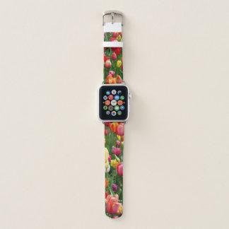 relógio na moda da flor do primavera das mulheres