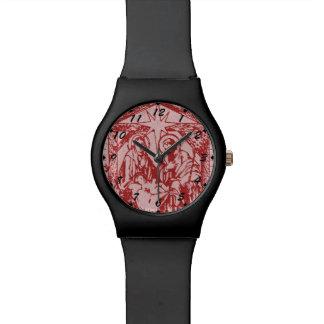 Relógio Natividade vermelha bonito