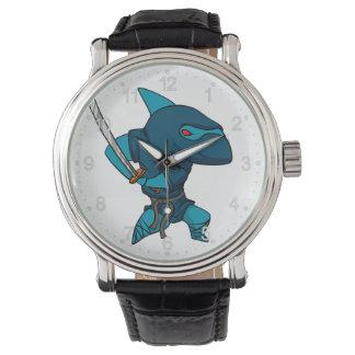 Relógio Ninja do tubarão