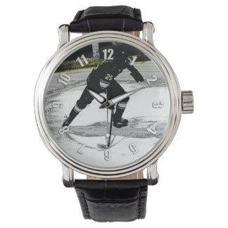 Relógio No movimento - jogador de hóquei
