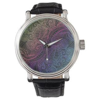 Relógio Noite do norte do arco-íris