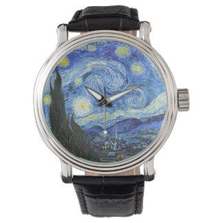 Relógio Noite estrelado de VAN GOGH