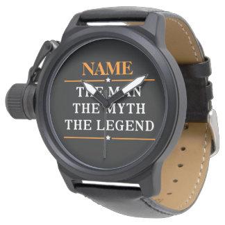Relógio Nome personalizado o homem o mito a legenda