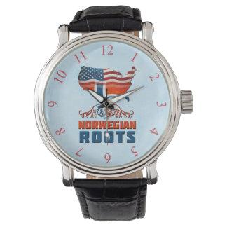 Relógio norueguês americano das raizes