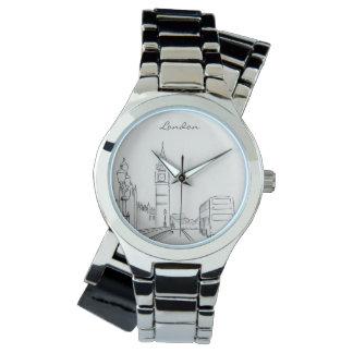 Relógio Nostálgico elegante elegante do esboço de Londres