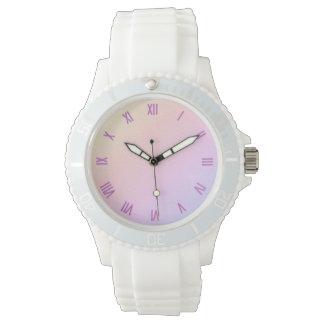 Relógio Numeral Pastel do rosa do inclinação
