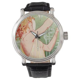 Relógio O absinto Robette - poster vintage do álcool