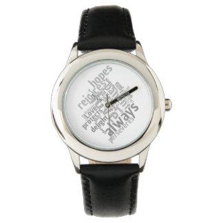 Relógio O amor cristão é paciente
