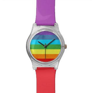 Relogio O arco-íris arfa o unicórnio