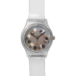 Relógio O branco preto pontilha a arte digital da unidade
