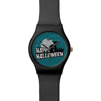 Relógio O Dia das Bruxas feliz