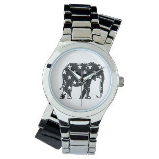 Relógio O elefante elegante Stars original chique branco
