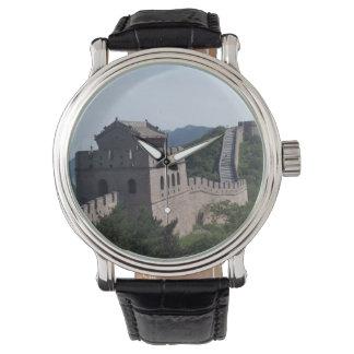 Relógio O Grande Muralha do chaveiro da lembrança da