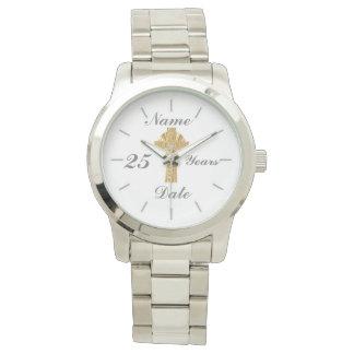 Relógio O jubileu de prata 25o do padre personalizou o
