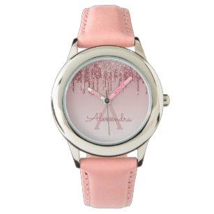 53739ffabc5 Relógio O ouro cor-de-rosa cora brilho e faísca