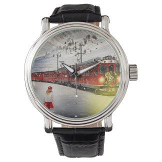 Relógio O papai noel expresso do Pólo Norte - trem do