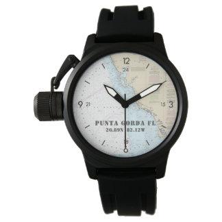 Relógio O Punta Gorda do barqueiro náutico da longitude da