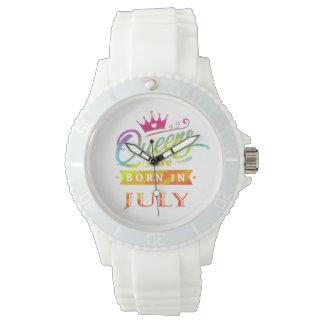 Relógio O Queens é em julho presente de aniversário
