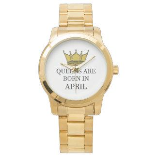 Relógio O Queens é nascido em abril