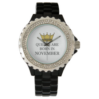 Relógio O Queens é nascido em novembro
