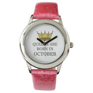 Relógio O Queens é nascido em outubro