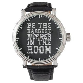 Relógio O trabalhador o mais duro na sala - inspirada